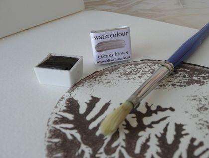 Okains Brown watercolour paint
