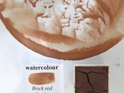 Brick Red watercolour paint