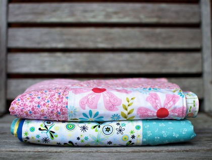 Green / Blue Baby Blanket
