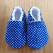 Spotty Blues Baby Booties - 6-12 months