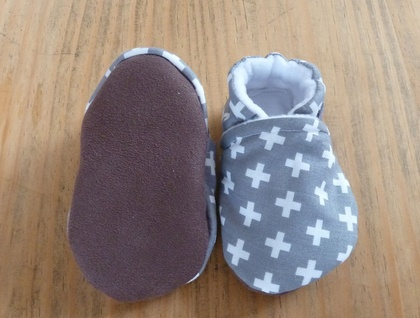 Light Grey Baby Booties - 6-12 months