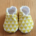 Triangle Pattern Baby Booties - Yellow - 0-6 months