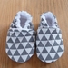 Triangle Pattern Baby Booties - Grey - 0-6 months