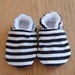 Black and White Stripe Baby Booties - 0-6 months