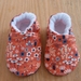 Flower Baby Booties - 0-6 months