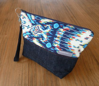 Blue 2 Tone Denim Purse