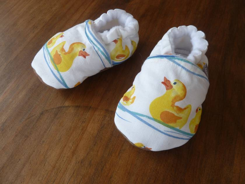 Duck Baby Booties - 0-6 months