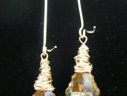 Swarovski Baroque Golden Shadow Earrings