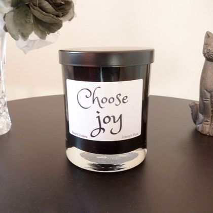 Scented Soy Candle in Black Tumbler