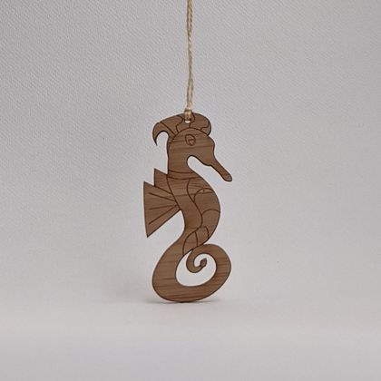 Seahorse Bamboo Decoration