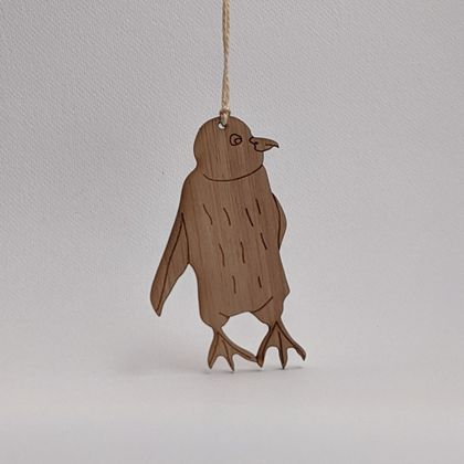 Little Penguin Bamboo Decoration