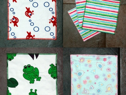Super Soft Terry & Flannelette Cloth Wipes / Face Cloths 5 pack