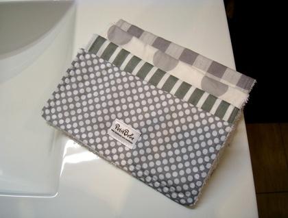 Designer Wash Cloths - Grey Scale