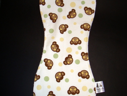 Boutique Burp Cloth and Bib Set - Monkeys