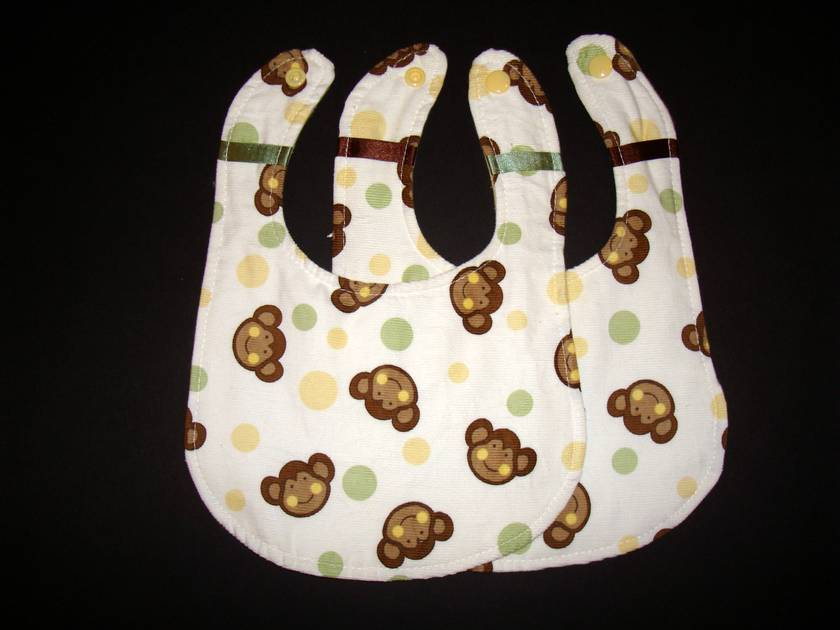 Boutique Baby Bibs - Monkeys Gift Set
