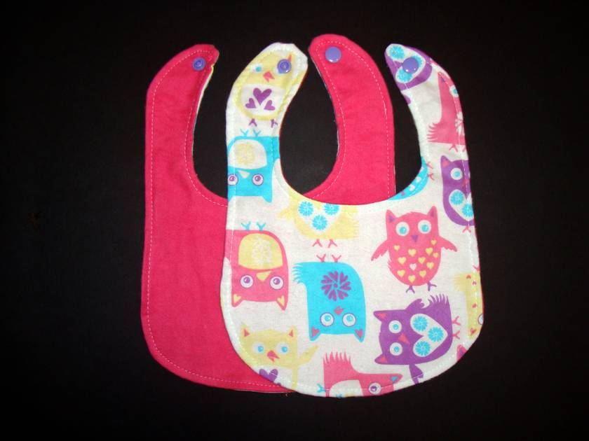 Boutique Baby Bibs - Owls