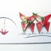 Origami Butterfly Stud Earrings- Red
