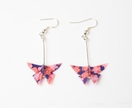 Handmade Origami Paper Butterfly Earrings -Dark Purple Cherry Blossom