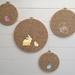 Hand-painted hoop art set (4)