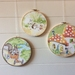 Vintage fabric hoop art set (3)