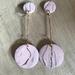 Circle earrings - marble