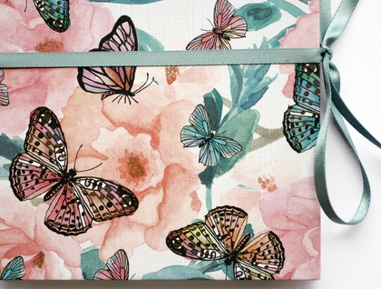 Butterflies concertina photo album
