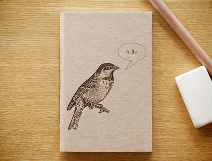Hello Birdy very small notebook