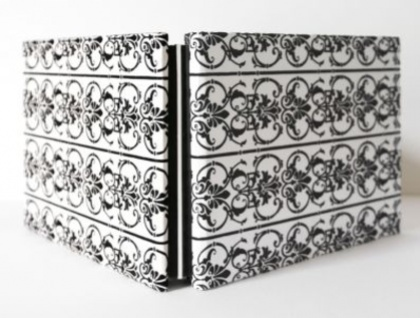 A5 Black & White Flocked Photo Album