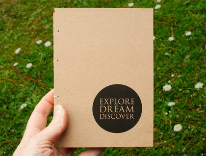Explore, Dream, Discover Coptic Bound Journal