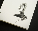Fantail (Piwakawaka) Coptic Bound Journal