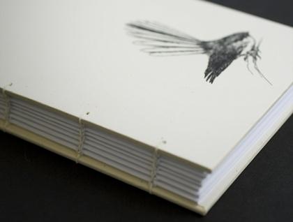 Fantail (Piwakawaka) Coptic Bound Journal