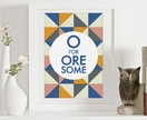 O for Oresome - A4 abstract art, geometric print, Scandinavian design poster