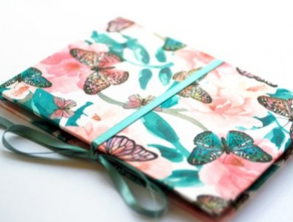 Butterflies concertina photo album
