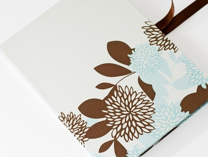 Spring Floral concertina photo album