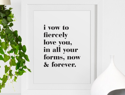 I Vow – A3 art poster