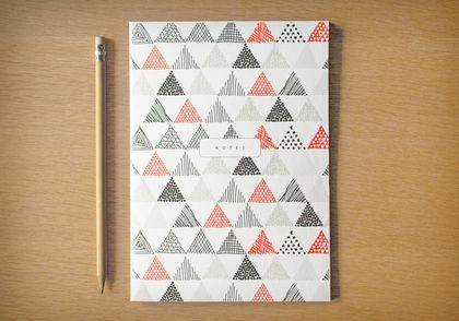 A5 Essential Notebook – Scribble Pattern