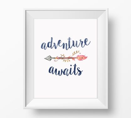 Adventure Awaits – 8x10 art poster