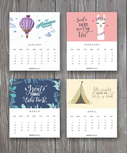 2019 Desk Calendar – Great Things Take Time
