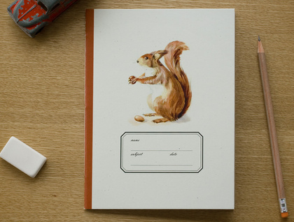 Squirrel Large Notebook . Ruled