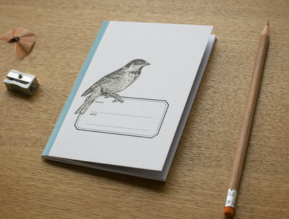 Sparrow Pocket Size Notebook . Ruled