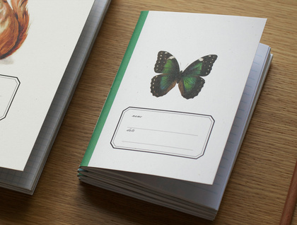 Butterfly Pocket Size Notebook . Ruled