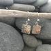 Silver & Copper Heart Earrings [2018-0048]