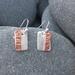 Textured Silver & Copper Stripe Earrings [2018-0023]