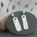 Textured Silver Rectangle Earrings [2018-0084]