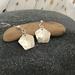 Textured Silver Pentagon Earrings  [146]