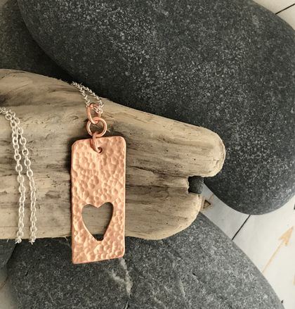 Copper Heart Window Pendant  [2019-0166]