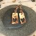 Copper Heart Window Earrings [2019-0169]