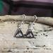 Triangle Mountain Pattern Earrings    [154]
