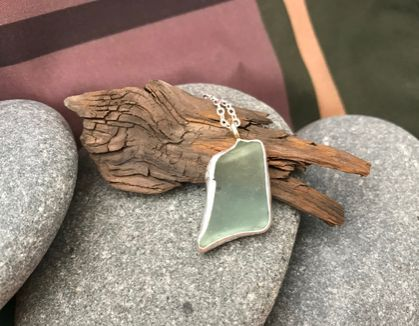 Silver & Sea Glass Pendant [2018-0186]