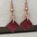 Copper & Enamel Earrings - Fire Engine Red  [191]